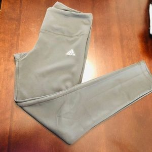 Adidas High waisted Gray leggings size Medium